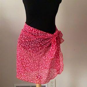 Jantzen swim Sarong Wrap Pink/Red skirt Floral